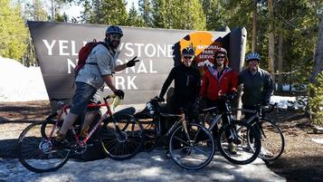 Group ride West Yellowstone